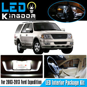 17x For 2003 2013 Ford Expedition White Led Dome Interior Light Bulb Package Kit