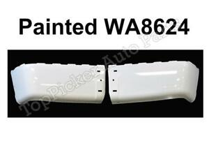New Painted Summit White Wa8624 Rear Bumper End Set For 07 14 Silverado W O Hole