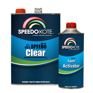 2 1 Voc Extremely Fast Clear Coat 4 1 Mix Clearcoat Med Gallon Kit Smr 100 150