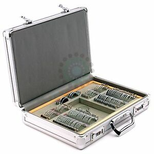104pcs Trial Lens Set With Metal Rim Aluminum Case With Fixed Pd Trial Frame