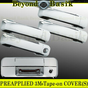 For 07 13 Toyota Tundra Crew Max Chrome Door Handle Covers 1 Kh Tailgate No Camh