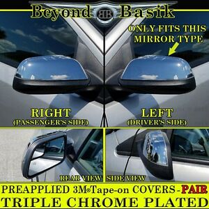 2011 2014 Ford Edge Abs Triple Chrome Mirror Covers Overlays Trims Cap See Notes