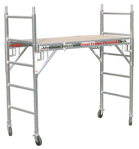Brand New Multi function 6 Aluminum Scaffold Rolling Tower With Double U Locks