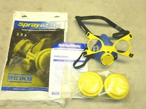 New Binks Spray Mate Paint Spray Respirator Small 40 1275