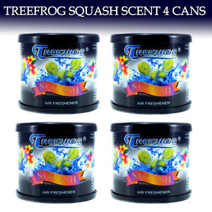 4 Can Treefrog Car Air Freshener Squash Tree Frog Squash Scent Qty 4 Cans