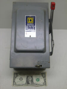 Square D Hu 361 Series D2 Safety Switch Disconnect Used See Photos Free Shipping
