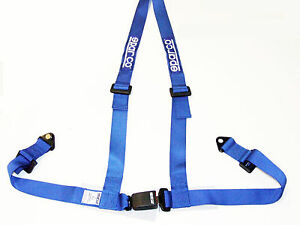 Sparco Racing Street 3 Point Bolt in 2 Seat Belt Harness blue