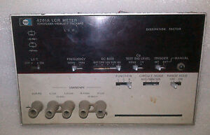 Front Panel For Hp 4261a Lcr Meter Working
