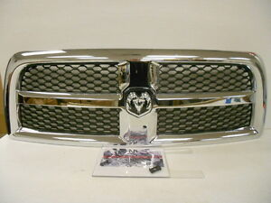 Factory Oem Genuine Mopar Dodge Ram 2500 3500 Hd Mfd Bright Grille Grill New