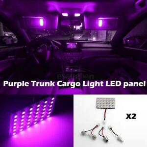 2 36smd Led 3528 Smd Car Interior Light Panel Bulb T10 Dome Ba9s Purple