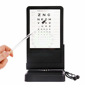 Near Led Optical Visual Chart Lamphouse Optometry Tester Vision Chart Battery