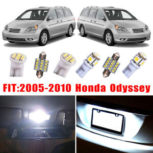 17x For Honda Odyssey 2010 2005 Car Interior Led Light Bulb Package Kit White