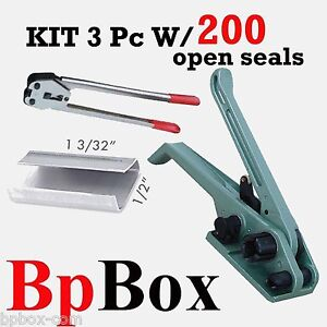 Strapping Poly Crimper tensioner And Cutter 1 2in To 5 8in 200 Open Seal Kit2