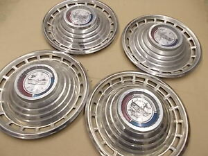 1963 Ford Galaxie Hubcaps 14 Set Of 4