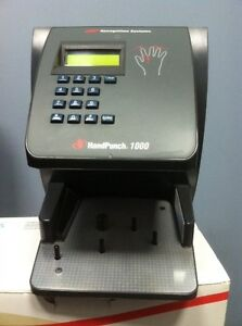 Hand Punch 1000 By Ir Recognition Systems Capacity 100 Employees Biometric Clock
