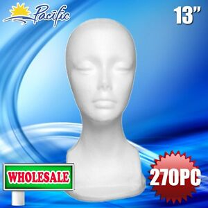270pc Wholesale 13 Female Styrofoam Foam Mannequin Head Wig Display Hat Glasses