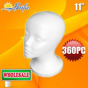 360pc Wholesale 11 Female Styrofoam Foam Mannequin Head Wig Display Hat Glasses