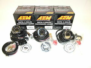 Aem 3 Gauges Combo Uego Wideband A F Ratio Oil Pressure Turbo Boost