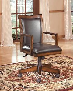 Ashley Furniture Home Office Swivel Brown Chair Adjustable Height Swivel Chair