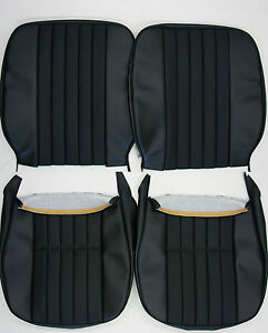 Porsche 911 912 Early Seat Cover Set Square Back W Basket Weave German Vinyl