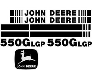 John Deere 550g Lgp Crawler Dozer Decal Set With Stripe Jd Decals