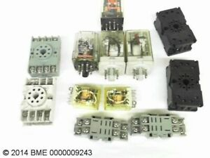 Various Electrical Supply 6 Ice Cube Relays With Terminal Blocks