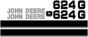 John Deere 624g New Style Ns Wheel Loader Decal Set With Stripe Jd Decals