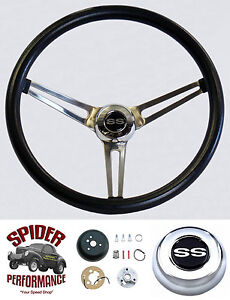 1967 Camaro Steering Wheel Stainless Spokes Ss Grant 15 Muscle Car Wheel