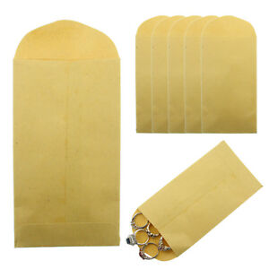 Brown Kraft Envelope 6 X 3 5 6 Coin Small Parts 24lb Gummed Flap Pack Of 500
