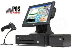 Corner Store Pos Retail All in one Station Complete Point Of Sales System New