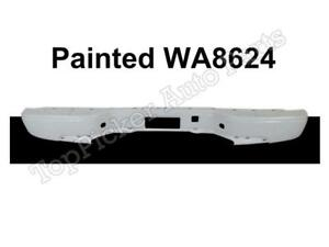 Painted Summit White Wa8624 Rear Bumper Bar For 99 07 Silverado Sierra Fleetside
