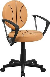 Basketball Design Task Office Chair With Arms Kids Or Aduls Office Desk Chair