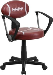 Football Design Task Office Chair With Arms Kids Or Aduls Office Desk Chair