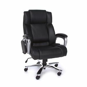 Big Tall 400lbs Capacity Multi task Black Leather Executive Office Desk Chair