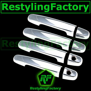 07 11 Toyota Yaris 04 09 Prius Chrome 4 Door Handle With Psg Keyhole Cover