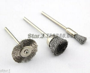 150pcs Dental Lab Wire Steel Cleaning Brushes Polishing Wheels 3 32 Shank