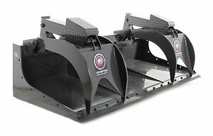 Skid Steer Grapple Bucket 84 Wide With Bolt On Cutting Edge Industrial Series