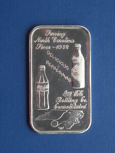 Coca-Cola  Charlotte, North Carolina 75th anniversary - 1oz Silver Art Bar WWM75