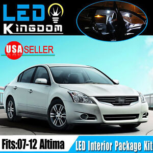 14pcs For 2007 2012 Nissan Altima Led Interior Dome Light Package Kit Pure White