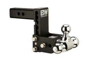 B W Tow And Stow Hitch Ball Mount 5 Drop 5 1 2 Rise Tri Ball Ts10048b