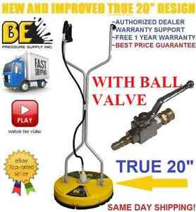 Be Pressure Whirl a way 20 Flat Surface Concrete Cleaner Washer W Ball Valve