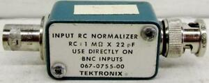 Tektronix 067 0755 00 Input Rc Normalizer Rc 1m Ohm X 22 Pf Use Directly On B