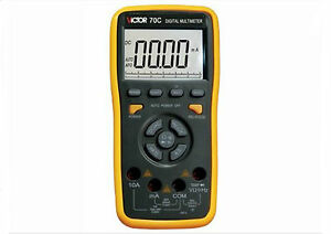 Victor 70c Plastic Shell Lcd Display Ohmmeter Ac Dc Testing Multimeter