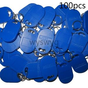 100pcs 125khz Rfid Em4100 Proximity Induction Id Tag Token Keyfob Access Control