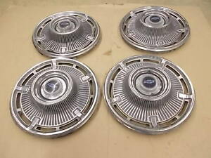 1965 Chevy Truck Pass Hubcaps Set Of Four