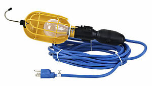 Incandescent Trouble Light With Outlet Metal Guard 50 Ft Cold Cord Tlp 50gm Cb