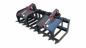74 Inch Heavy Duty Skid Steer Root Grapple Bucket Free Shipping