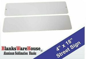 180 Pieces Mini Street Sign Aluminum Sublimation Blanks 4 x 18 With Holes