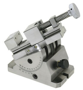 Precision Tilt Swivel Grinding Inspection Vise Steel 14678