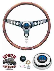 74 87 Dodge 4x4 Pickup Ramcharger Steering Wheel Mopar 13 1 2 Classic Walnut